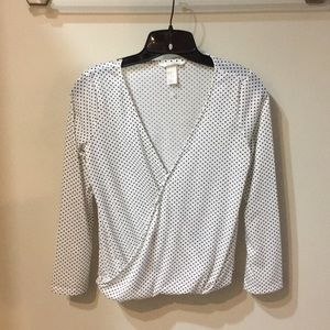 Black and white polkadot dress shirt